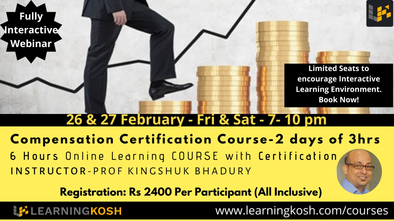 Compensation Strategy Indian Salary Certification Course LearningKosh